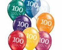 100th Around Jewel Assorted. Latex Balloon