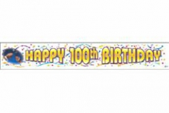 100th Banner Giant  Birthday (32cm High x 200cm Long