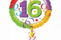16th bright colours foil 45cm