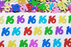 16th confetti scatter