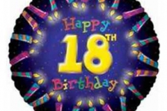 18th candle birthday foil