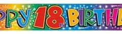18th foil banner 3.65m x 12cm