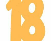 18th gold carboard cutout large and small