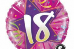 18th pink foil balloon