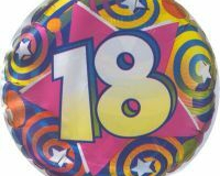 18th swirl 45cm foil