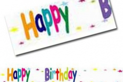 Add name and age birthday banner