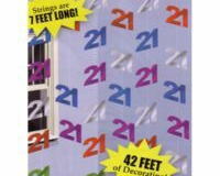 21st hanging string decoration 2.1 mtr pkt 6