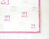 21st pink print paper tablecloth 30mtr x 1.22mtr
