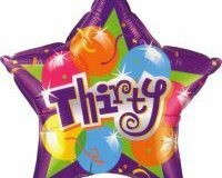 30th star shape foil balloon