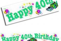 40th birthday paper banner