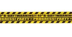 40th birthday tape 12.8mtr x 7.5cm