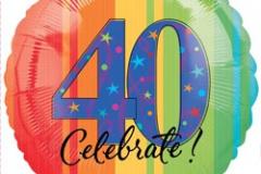 40th celebrate 45cm foil