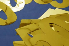 50th gold foil cutouts 10cm