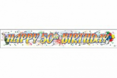 50th paper banner 200cm x 32cm