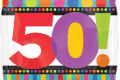 50th square foil balloon 45cm
