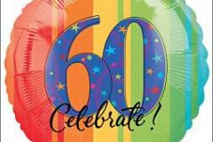 60th celebrate 45cm foil