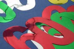 60th foil cutouts 10cm