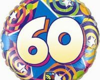 60th star pattern foil balloon 45cm