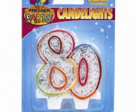 80 th sparkle candle set