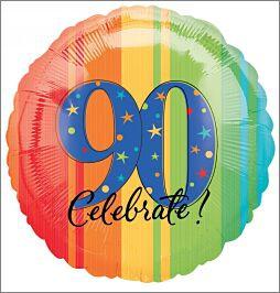 90th Birthday Celebrate Foil Balloon
