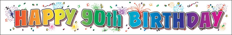 90th Paper Birthday Banner