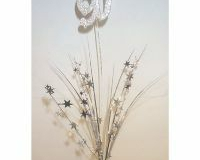 90th Spray Foam Stars Silver 3D glittered number (61cm)