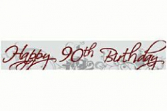 90th birthday paper banner