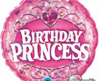 Birthday Princess pin 45cm foil balloon q34805