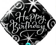 Black elegance sparkle 45 cm foil balloon q29988