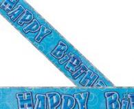 Blue glitz 3.65m foil banner