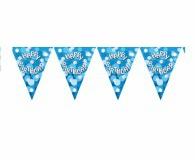 Blue sparkle pennant banner