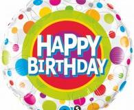 Colourful dots 45cm foil balloon q41136