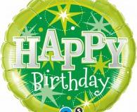Green sparkle 45cm foil balloons q37924