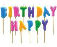 Happy birthday letter bright candles
