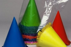 Hats cone assorted colours