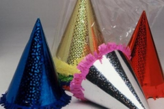 Hats cone prismatic assorted colours