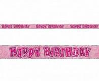 Pink glitz 3.65m foil banner