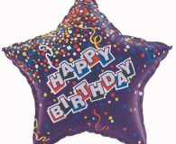 Purple Star shape 45cm foil balloon q35729