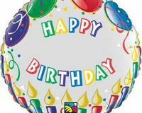 Add a number birthday foil 45cm