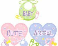 Baby cutouts 40cm pkt 3