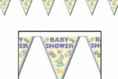 Baby shower penant banner