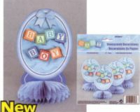 Blue baby honeycome decorations