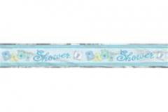Blue foil banner for baby