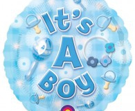 Its a Boy 45cm foil balloon