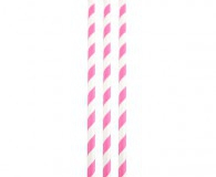 Pink and white straws