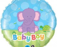 Baby boy elephant 45 cm foil balloon