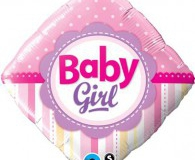 Baby girl foil 45 cm balloon