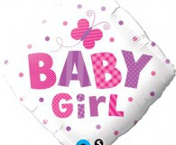 Baby girl bow 45 cm foil balloon