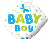 Baby boy foil 45 cm balloons
