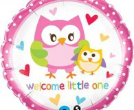 Welcome baby girl 45 cm foil balloon